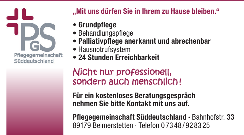 Pflegegemeinschaft Süddeutschland