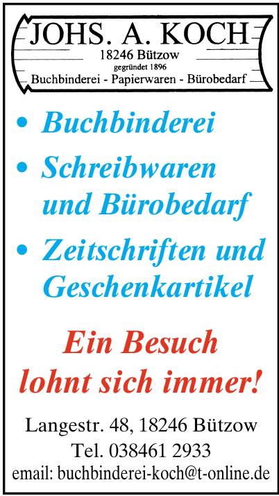 Buchbinderei Johs. A. Koch