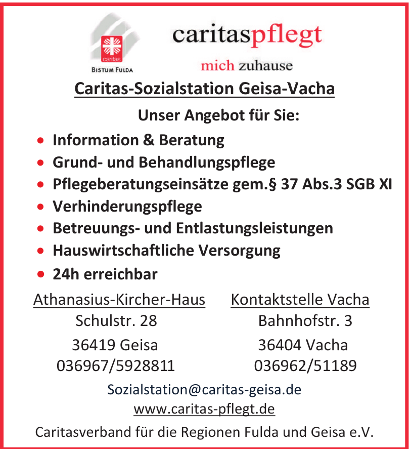 Caritasverband für die Regionen Fulda und Geisa e.v.
