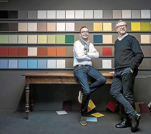 Werte neu entdecken, annehmen, positiv interpretieren – für die 2Maler. Ayhan Savasogan (li.) und Clemens Schönack nicht altmodisch, sondern Zukunft. FOTO: PEPE LANGE