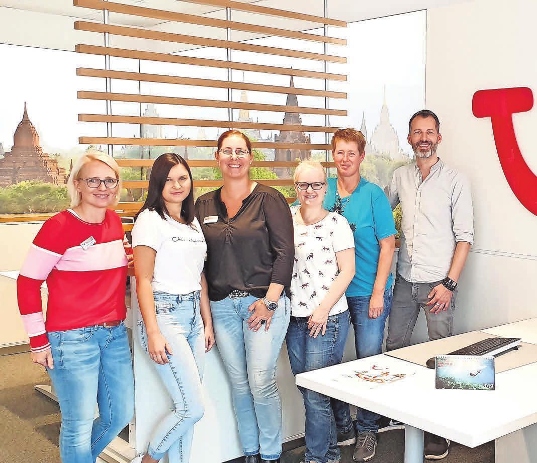 Ein eingespieltes Team in Sachen Urlaub: Lars Wilhelms und sein Team.