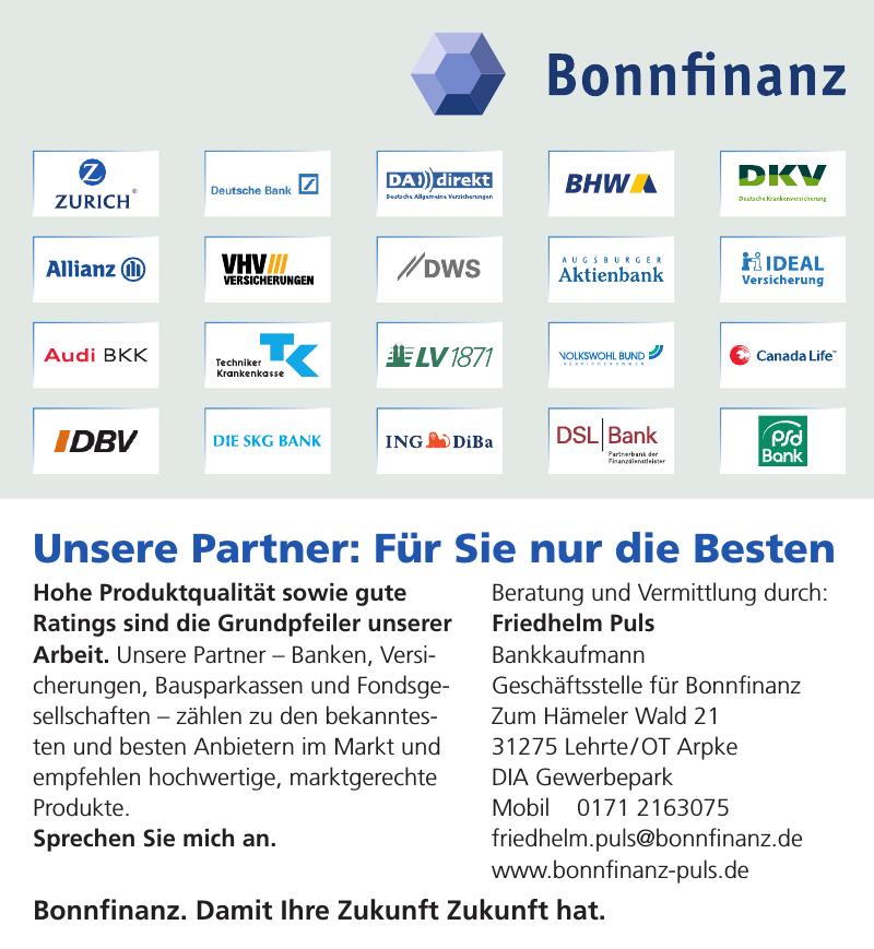 Friedhelm Puls Bankkaufmann Geschäftsstelle für Bonnfinanz