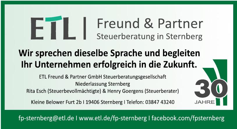 ETL Freund & Partner GmbH Steuerberatunggesellschaft Niederlassung Sternberg