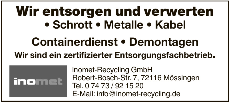 lnomet-Recycling GmbH