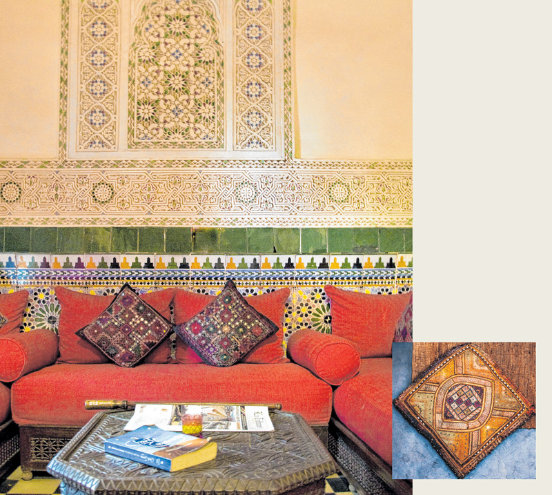 Kräftige Farben prägen das Ambiente eines marokkanischen Riads. FOTOS: PA/TIPS IMAGES; ISTOCK/NAZAR YARISH