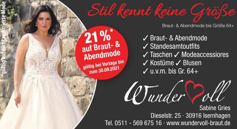 Wundervoll Braut- und Abendmode