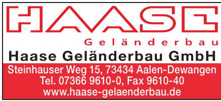 Haase Geländerbau GmbH