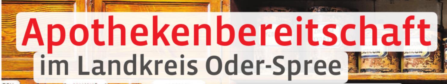 Apothekenbereitschaft im Landkreis Oder-Spree  Image 1