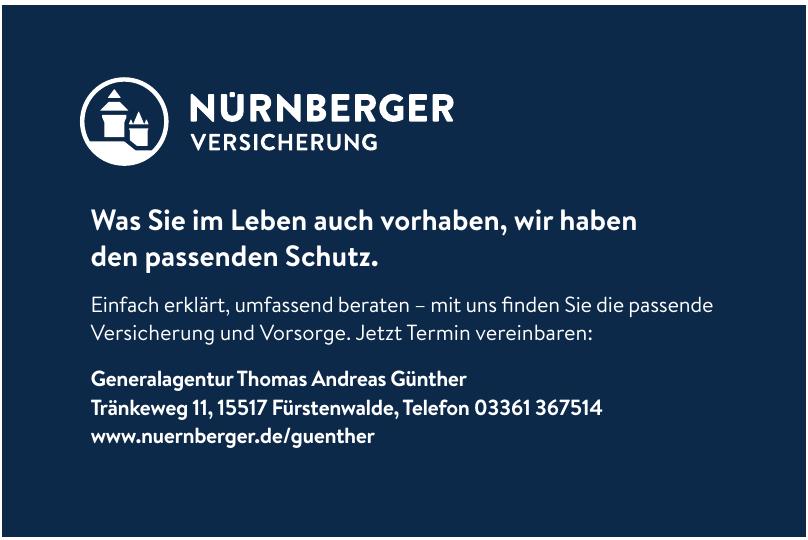 Generalagentur Thomas Andreas Günther-Nürnberger Versicherung