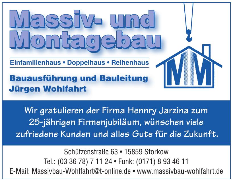 Massiv- und Montagebau Jürgen Wohlfahrt