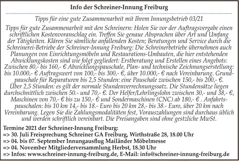 Schreiner-Innung Freiburg