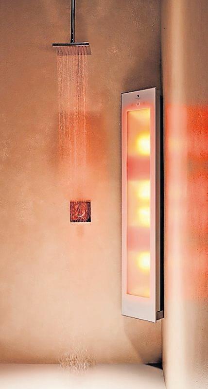 Infrarotstrahlung sorgt für eine Lichttherapie. FOTO: KLAUS SCHLENKER, WWW.SUNSHOWER.DE