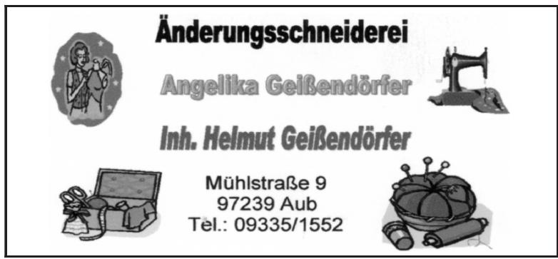 Änderungsschneiderei Angelika Geißendörfer
