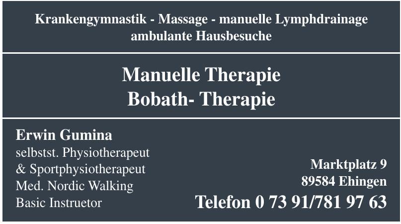 Manuelle Therapie Bobath-Therapie