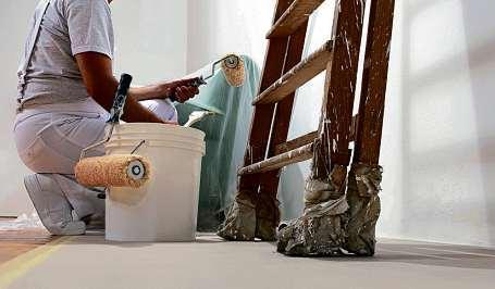 Bei Wandfarben gelten Produkte auf Kalkbasis als besonders schadstoffarm. FOTO: / ISTOCK/VISIVASNC