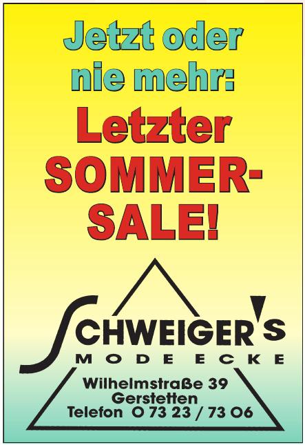 Schweiger's Modeecke