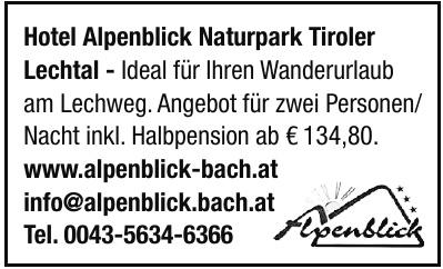 Hotel Alpenblick Naturpark Tiroler