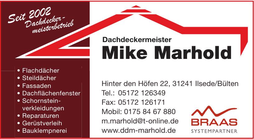 Dachdeckermeister Mike Marhold