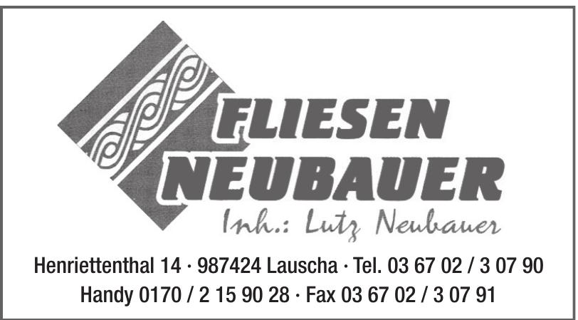 Fliesen Neubauer