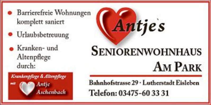 Seniorenwohnhaus Am Park Antje Aschenbach