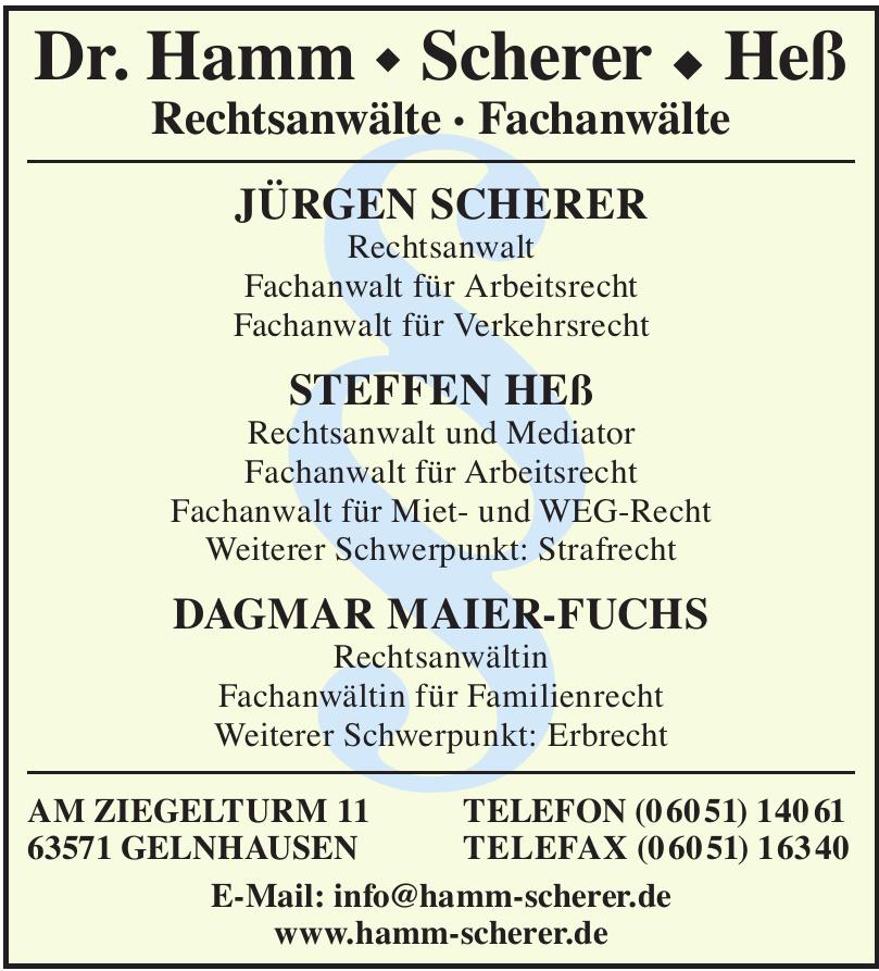 Dr. Hamm - Scherer - Heß
