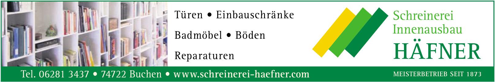 Häfner - Schreinerei - Innenausbau