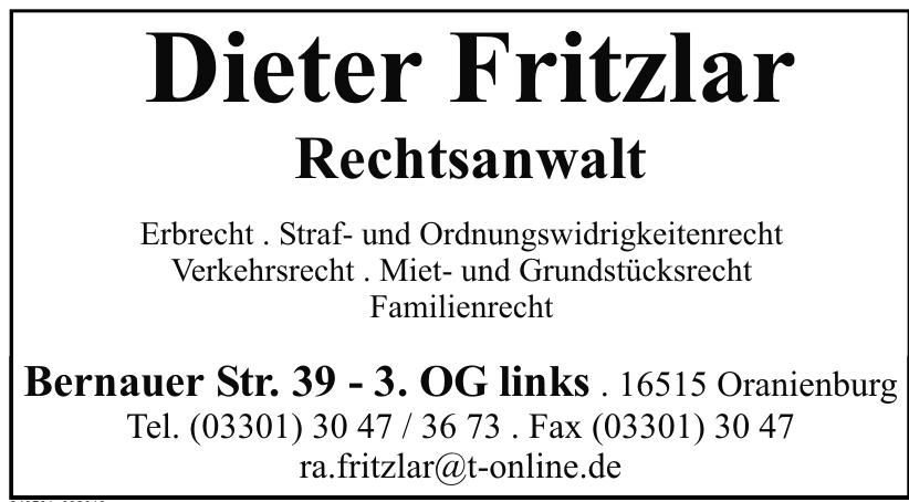 Dieter Fritzlar Rechtsanwalt