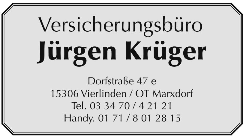 Versicherungsbüro Jürgen Krüger