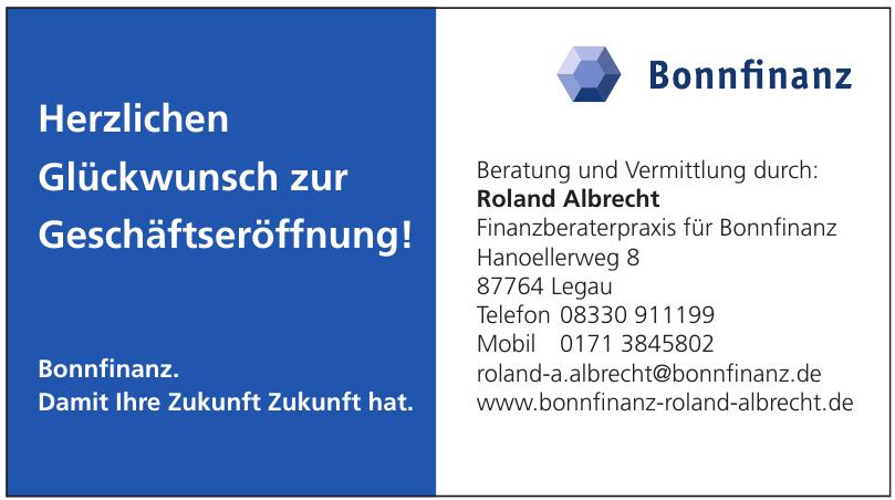 Roland Albrecht Finanzberaterpraxis für Bonnfinanz