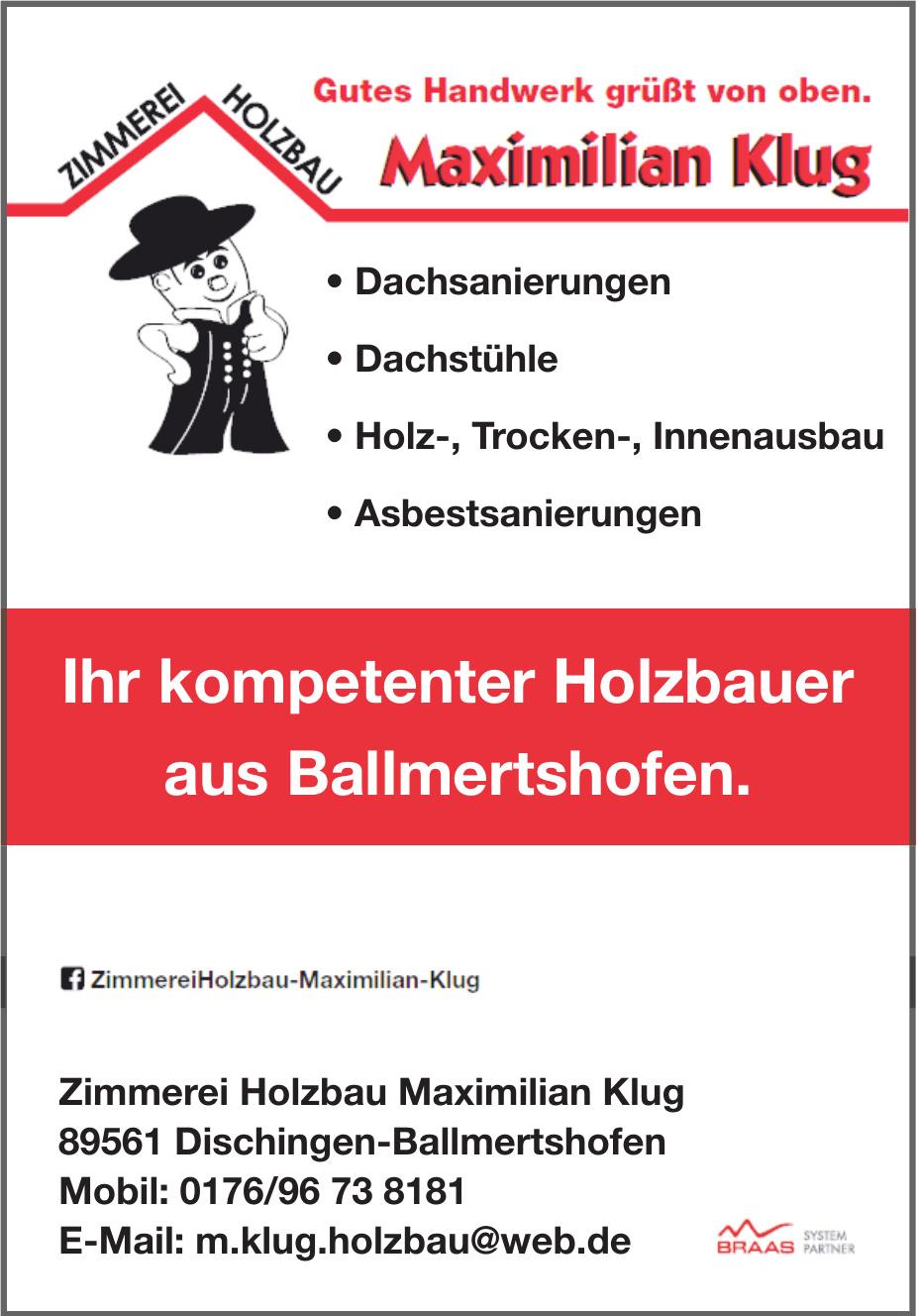 Zimmerei Holzbau Maximilian Klug