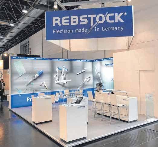 Die Medica-Messe in Düsseldorf ist auch für Rebstock ein wichtiger Branchentreff. Das Bild zeigt den diesjährigen Messestand.