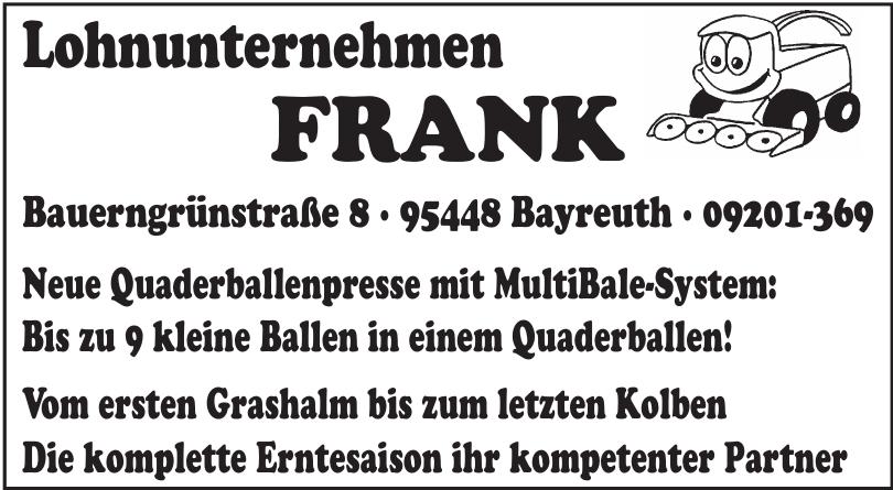 Lohnunternehmen FRANK