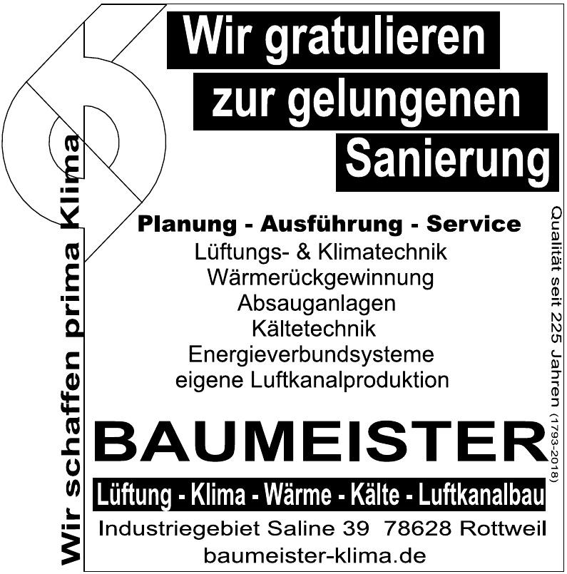 Baumeister Klima
