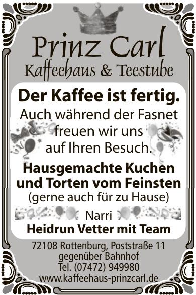 Prinz Carl Kaffeehaus & Teestube