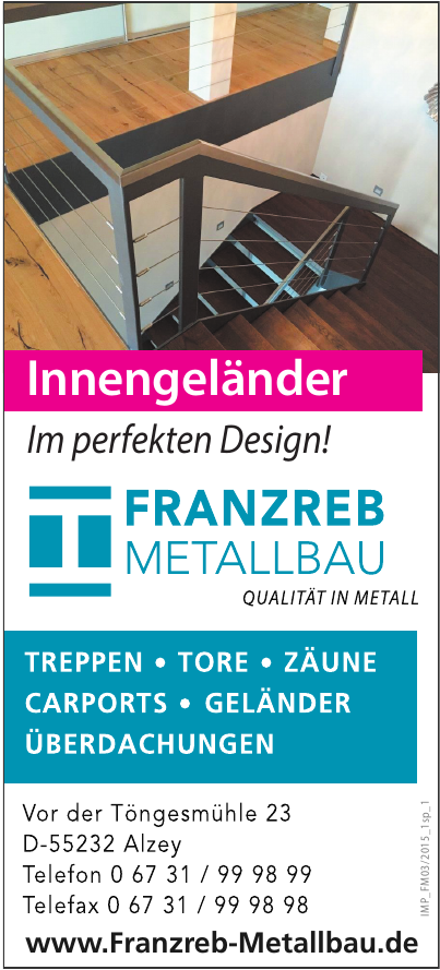 Franzenreb Metallbau