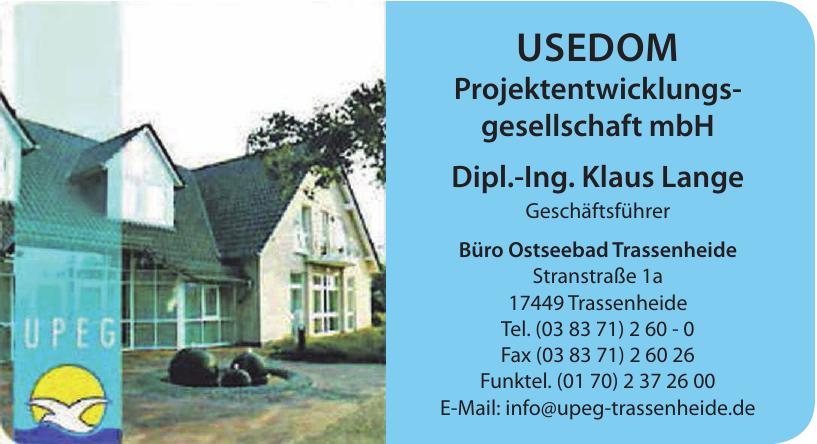 Usedom Projektentwicklungsgesellschaft mbH - Dipl.-Ing. Klaus Lange