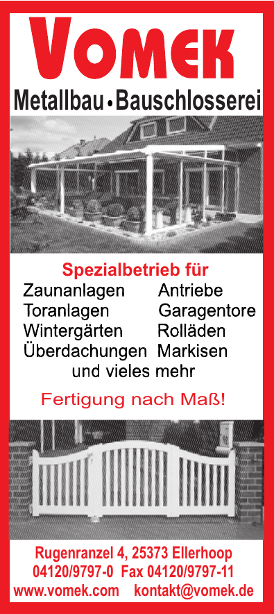 Vomek Metallbau Bauschlosserei