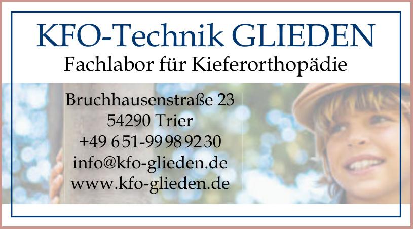 KFO - Technik Glieden