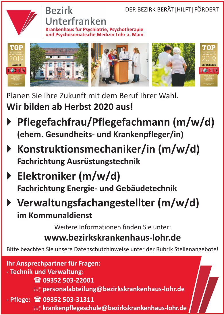 Berufsfachschule für Krankenpflege des Bezirk Unterfranken Bezirkskrankenhaus Lohr a. Main