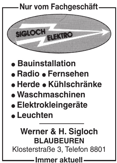 Sigloch Elektro - Werner & H. Sigloch Blaubeuren