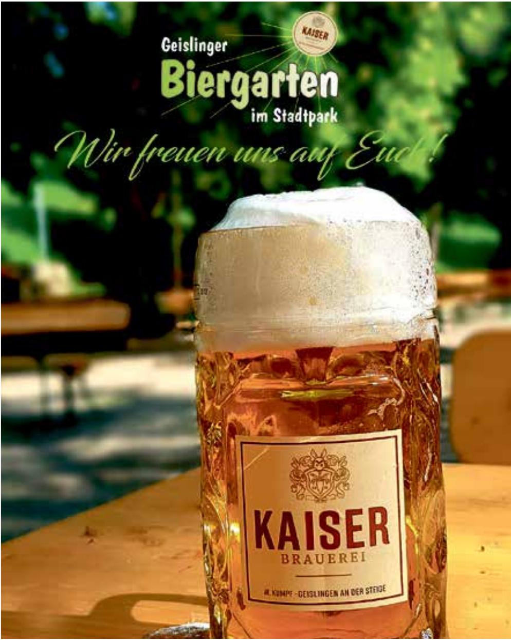 Geislinger Biergarten im Stadtpark