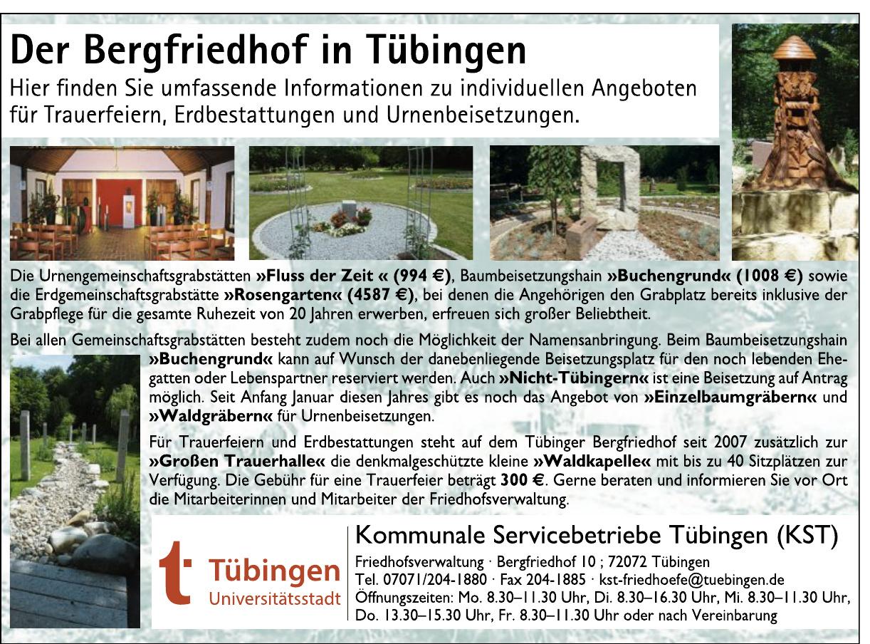 Kommunale Servicebetriebe Tübingen-Friedhofverwaltung