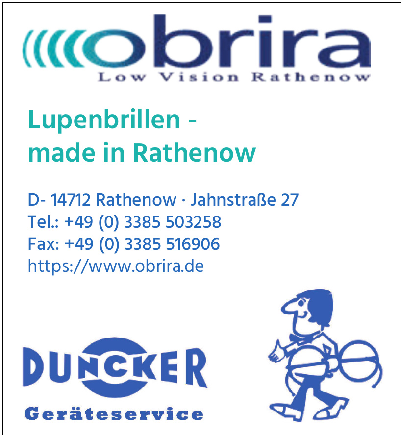 Obrira - Low Vision Rathenow