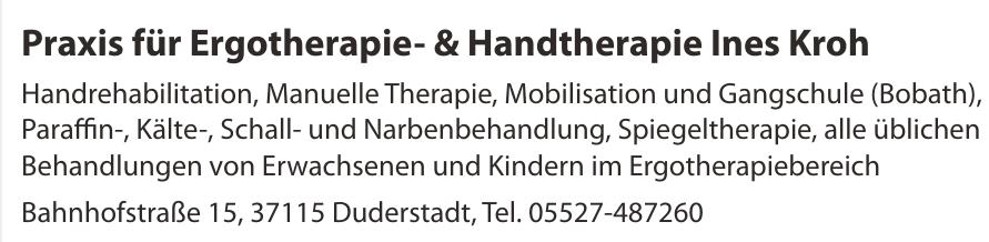 Praxis für Ergotherapie- & Handtherapie Ines Kroh