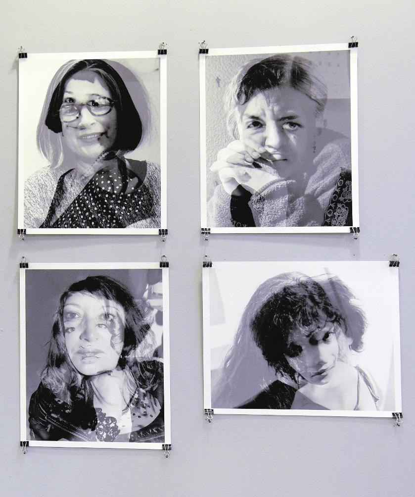 Auch Fotokunst gehörte dazu, hier präsentiert im GAG-Abrisshaus. FOTO: KUNZ
