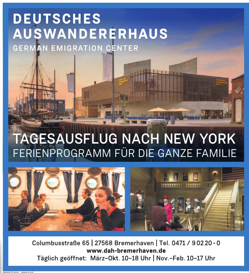 DAH Deutsches Auswandererhaus