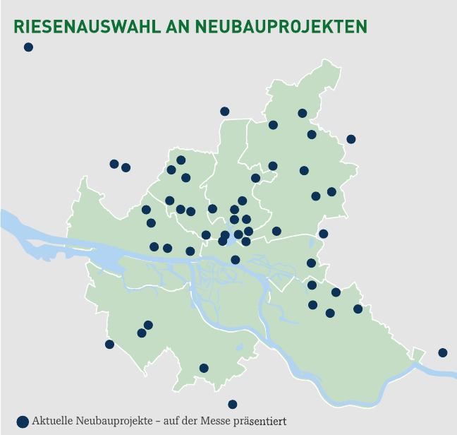 Auf der HAMBURGER IMMOBILIENMESSE wird eine Vielzahl an Neubauprojekten in Hamburg und Umgebung zum ersten Mal präsentiert. Alle Informationen hierzu erhalten Messebesucher vor Ort