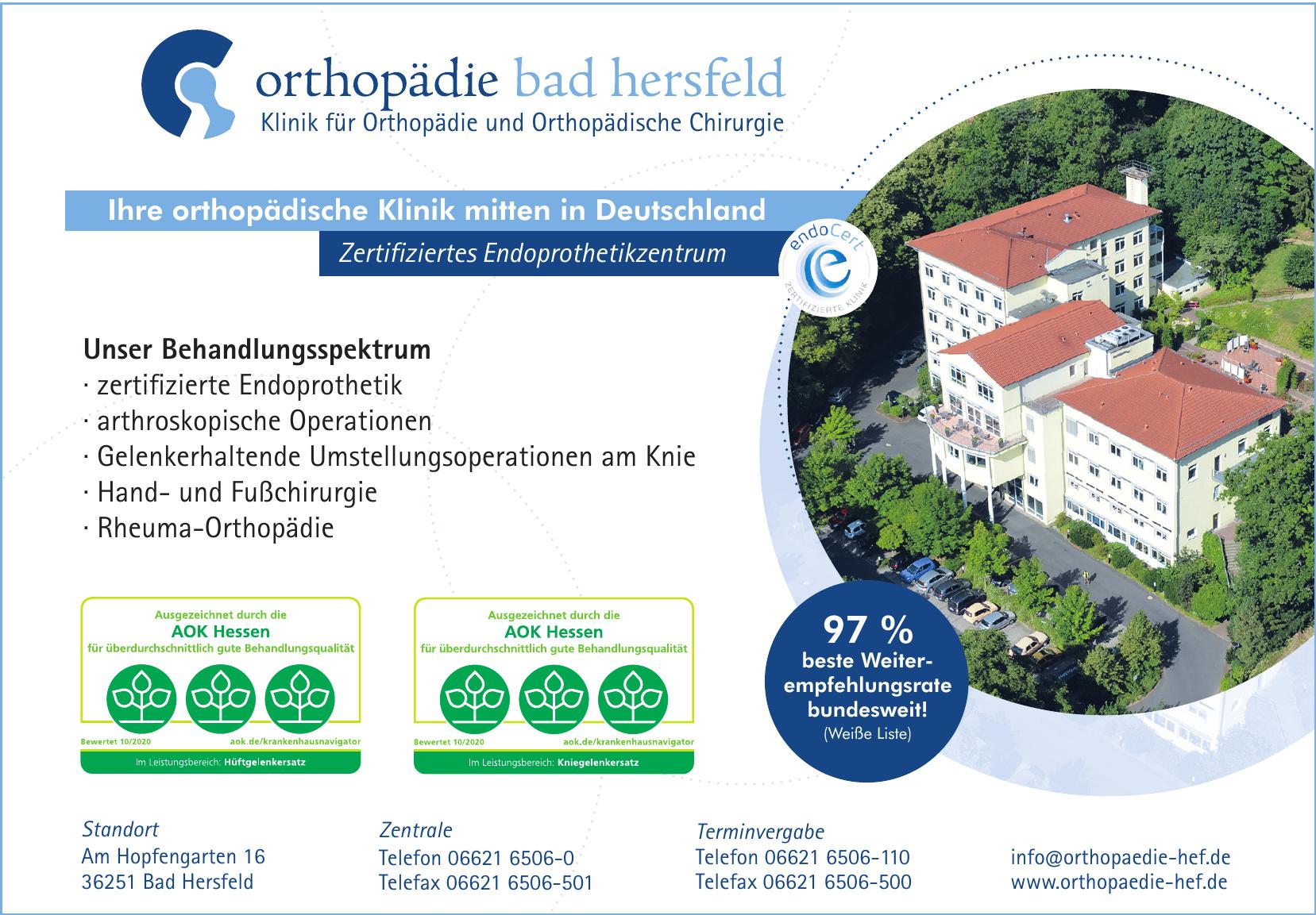Orthopädie Bad Hersfeld