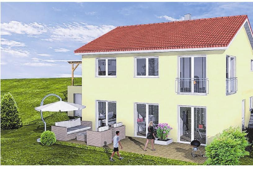 Viel Platz zum Entfalten und Wohlfühlen bietet das Haus im Kirchberger Stadtteil. Foto: Bauer Holzbau
