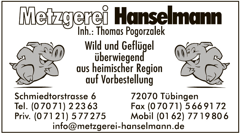 Metzgerei Hanselmann